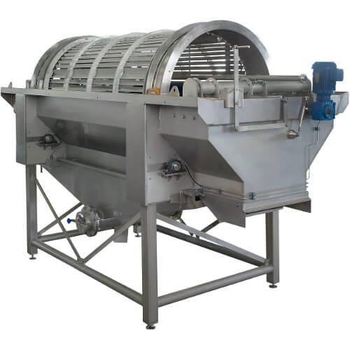 Florigo ultra-clean® WT 3 is a drum washer from tna that removes clay shells, sand and soil from potatoes and other root vegetables thoroughly and without damaging them.